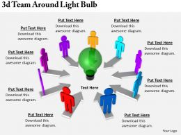 2513 3d Team Around Light Bulb Ppt Graphics Icons Powerpoint