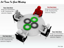 2513 3d Team In Gear Meeting Ppt Graphics Icons Powerpoint