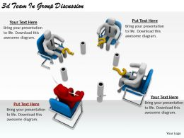 2513 3d Team In Group Discussion Ppt Graphics Icons Powerpoint