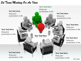 2513 3d Team Meeting On An Idea Ppt Graphics Icons Powerpoint