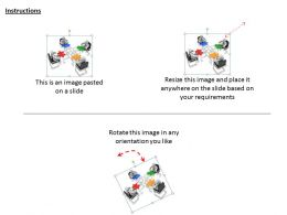 2513 3d Team On Table With Puzzles Ppt Graphics Icons Powerpoint