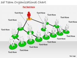 2513 3d Team Organizational Chart Ppt Graphics Icons Powerpoint