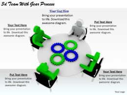 2513 3d Team With Gear Process Ppt Graphics Icons Powerpoint