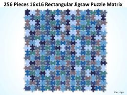 256_pieces_16x16_rectangular_jigsaw_puzzle_matrix_powerpoint_templates_0812_Slide01