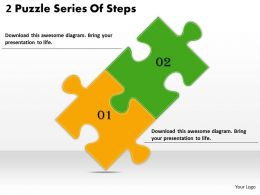 2613 Business Ppt diagram 2 Puzzle Series Of Steps Powerpoint Template