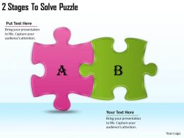2613 Business Ppt diagram 2 Stages To Solve Puzzle Powerpoint Template