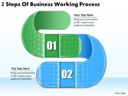 2613 Business Ppt diagram 2 Steps Of Business Working Process Powerpoint Template