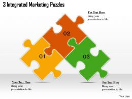 2613 Business Ppt diagram 3 Integrated Marketing Puzzles Powerpoint Template