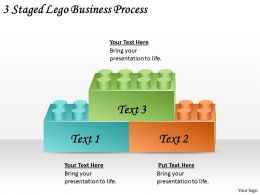 2613 Business Ppt diagram 3 Staged Lego Business Process Powerpoint Template