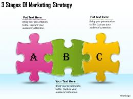 2613 Business Ppt diagram 3 Stages Of Marketing Strategy Powerpoint Template