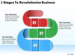 2613 Business Ppt diagram 3 Stages To Revolutionize Business Powerpoint Template