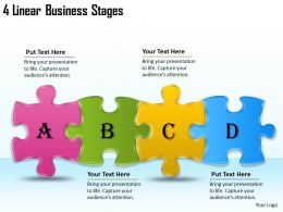 2613 Business Ppt diagram 4 Linear Business Stages Powerpoint Template