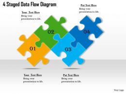 2613 Business Ppt diagram 4 Staged Data Flow Diagram Powerpoint Template