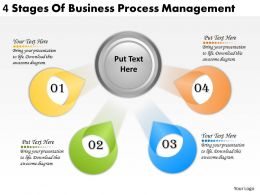 2613 Business Ppt diagram 4 Stages Of Business Process Management Powerpoint Template