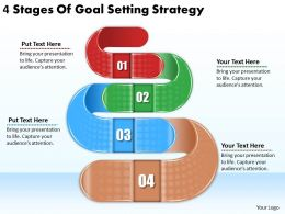 2613 Business Ppt diagram 4 Stages Of Goal Setting Strategy Powerpoint Template