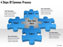 2613 Business Ppt diagram 4 Steps Of Common Process Powerpoint Template