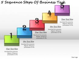 2613 Business Ppt diagram 5 Sequence Steps Of Business Task Powerpoint Template