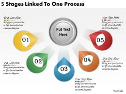 2613 Business Ppt diagram 5 Stages Linked To One Process Powerpoint Template