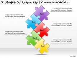 2613 Business Ppt diagram 5 Stages Of Business Communication Powerpoint Template