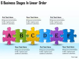 2613 Business Ppt diagram 6 Business Stages In Linear Order Powerpoint Template