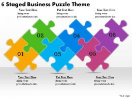 2613 Business Ppt diagram 6 Staged Business Puzzle Theme Powerpoint Template