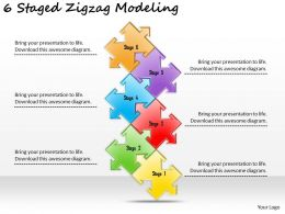 2613 Business Ppt diagram 6 Staged Zigzag Modeling Powerpoint Template
