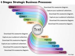 2613 Business Ppt diagram 6 Stages Strategic Business Processes Powerpoint Template