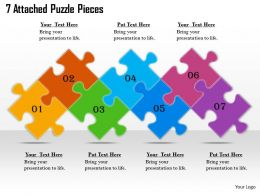 2613 Business Ppt diagram 7 Attached Puzzle Pieces Powerpoint Template