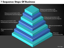 2613 Business Ppt diagram 7 Sequence Steps Of Business Powerpoint Template