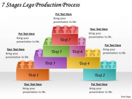 2613 Business Ppt diagram 7 Stages Lego Production Process Powerpoint Template