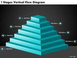 2613 Business Ppt diagram 7 Stages Vertical Flow Diagram Powerpoint Template