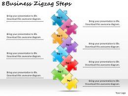 2613 Business Ppt diagram 8 Business Zigzag Steps Powerpoint Template