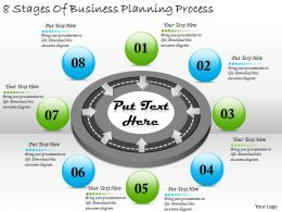 2613 Business Ppt diagram 8 Stages Of Business Planning Process Powerpoint Template