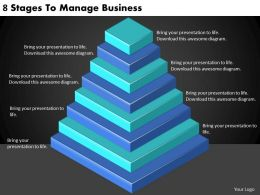 2613 Business Ppt diagram 8 Stages To Manage Business Powerpoint Template