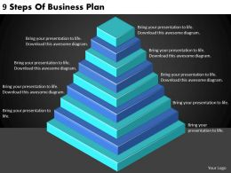 2613 Business Ppt diagram 9 Steps Of Business Plan Powerpoint Template