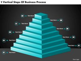 2613 Business Ppt diagram 9 Vertical Steps Of Business Process Powerpoint Template