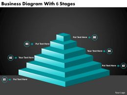 2613 Business Ppt diagram Business Diagram With 6 Stages Powerpoint Template