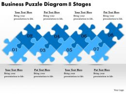 2613 Business Ppt diagram Business Puzzle Diagram 8 Stages Powerpoint Template