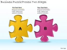 2613 Business Ppt diagram Business Puzzle Process Two Stages Powerpoint Template