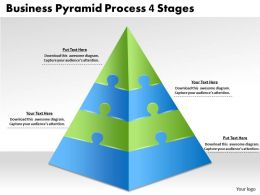 2613 Business Ppt diagram Business Pyramid Process 4 Stages Powerpoint Template