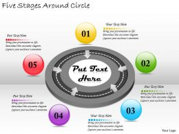 2613 Business Ppt diagram Five Stages Around Circle Powerpoint Template