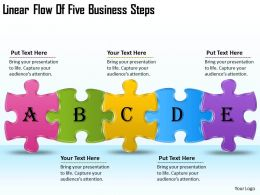 2613 Business Ppt diagram Linear Flow Of Five Business Steps Powerpoint Template