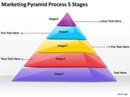 2613 Business Ppt diagram Marketing Pyramid Process 5 Stages Powerpoint Template
