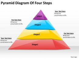 2613 Business Ppt diagram Pyramid Diagram Of Four Steps Powerpoint Template