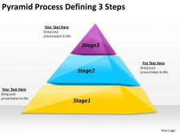 2613 Business Ppt diagram Pyramid Process Defining 3 Steps Powerpoint Template