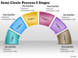 2613 Business Ppt diagram Semi Circle Process 6 Stages Powerpoint Template