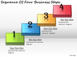 2613 Business Ppt diagram Sequence Of Four Business Steps Powerpoint Template