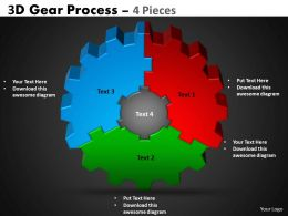 2 3D Gear Process 4 Pieces