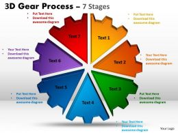 2 3D Gear Process 7 Stages Style 1