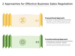 2 Approaches For Effective Business Sales Negotiation